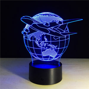 3D LED Plane Night Light