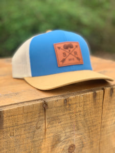 Southern Roots Logo Patch Ocean Blue/ Amber/ Beige