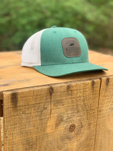 Dark Patch Hat Heather Green & Light Gray
