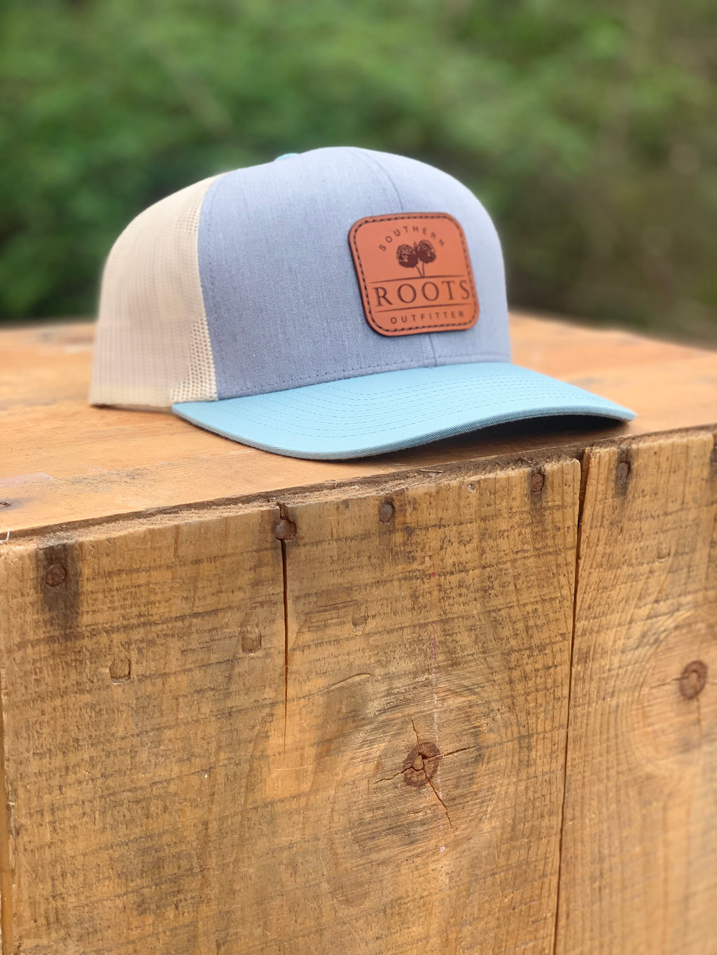 Southern Roots Logo Patch Heather Grey/Smoke Blue/Beige