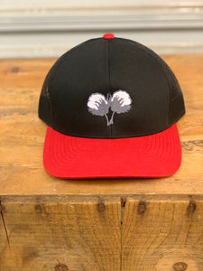 Single Cotton Logo Black/Red