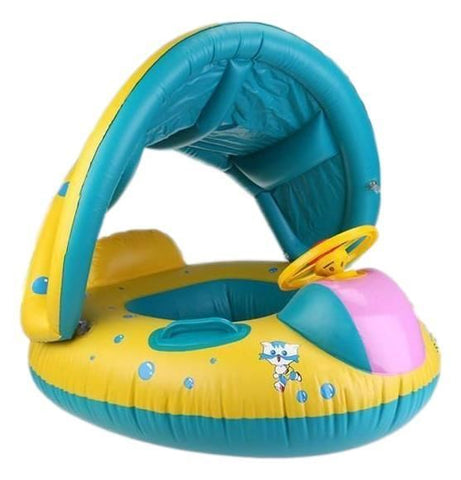 Baby Swimming Float With Sunshade Canopy Water Toys  sc 1 st  Adelaide Bargains & Baby Swimming Float with Sunshade Canopy u2013 Adelaide Bargains