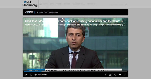 Mondetta CEO, Ash Modha, on Bloomberg