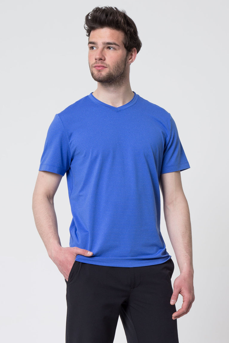 Expedite Striped Active Tee