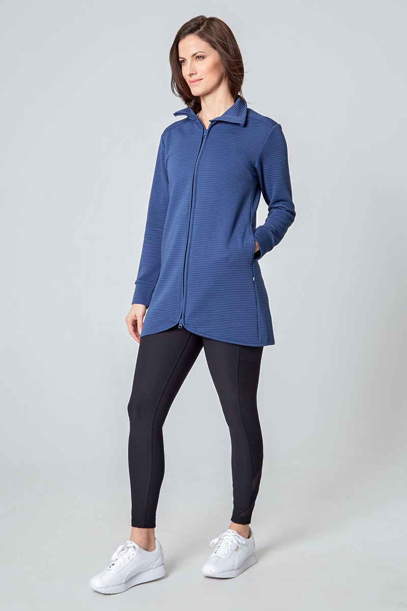 Women's Ottoman Jacket - Iron Blue
