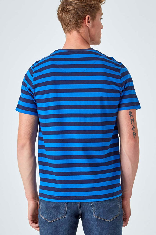 Chase Striped Logo Tee