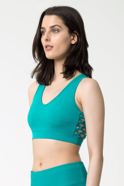 Siren Macrame-Look Medium Support Bra