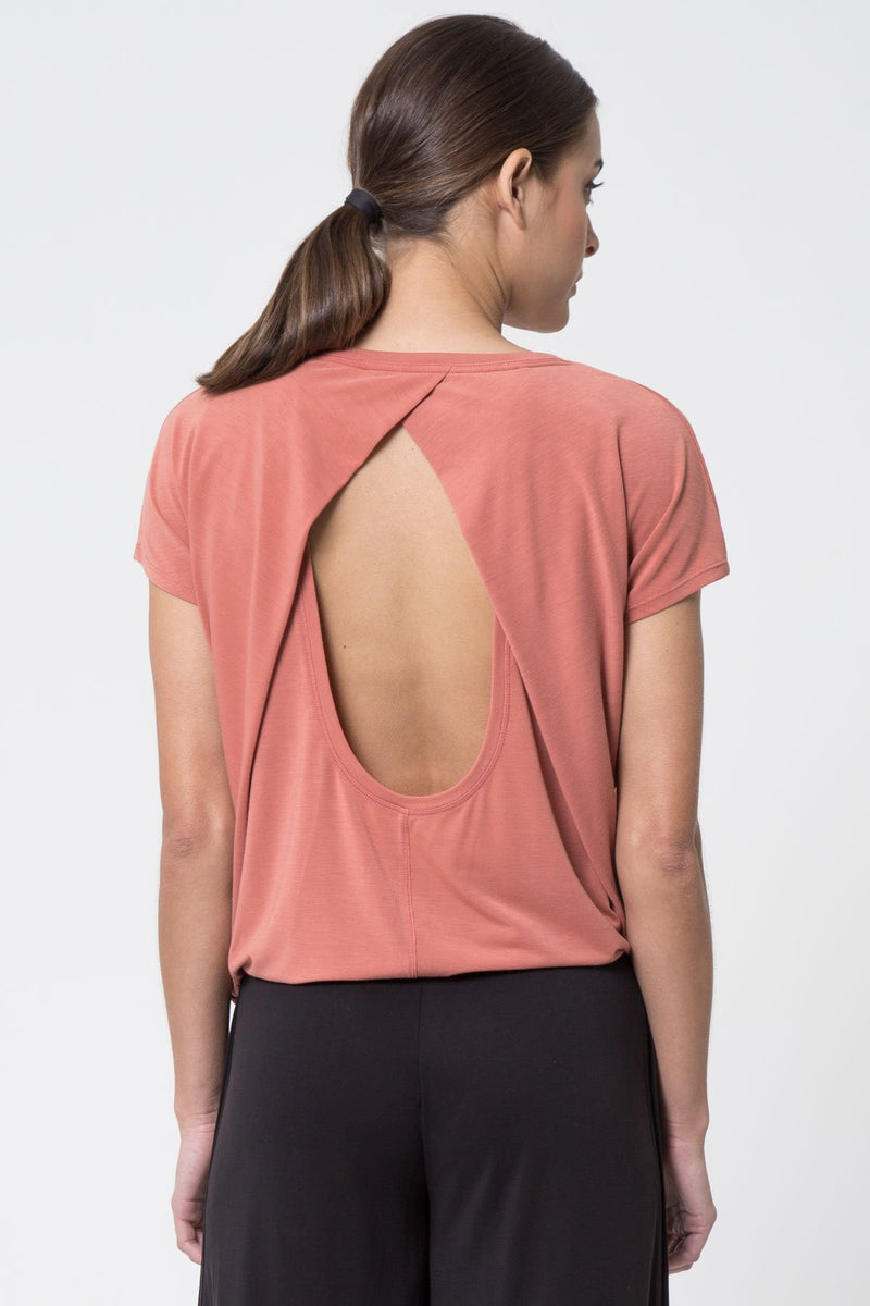Flaunt Open Back Warrior Knit Top