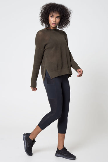 Peekaboo Technical Mesh Knit Top