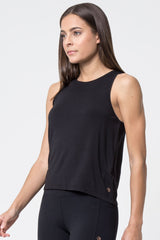 Flow Diamond Mesh Cropped Tank