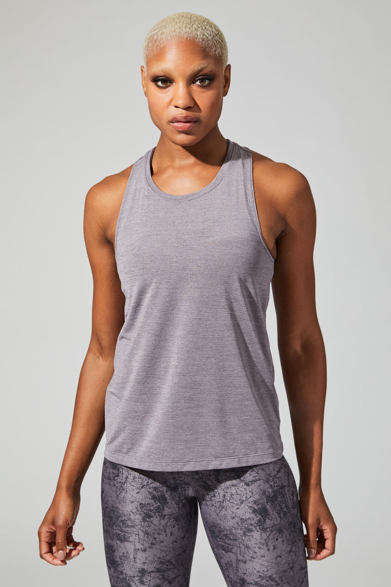 Sparkle Silver Thread Tank