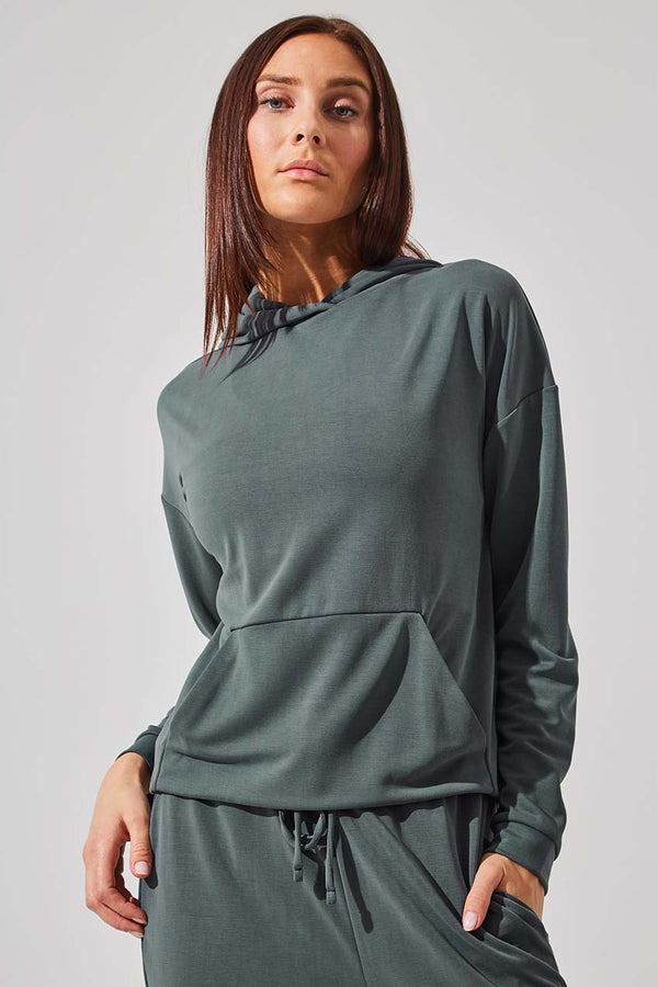 MPG Sport women's Coast Natural Modal Hooded Sweatshirt in Dark Sage