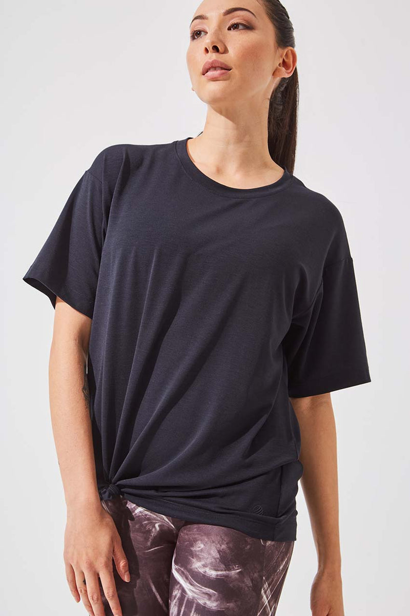 MPG Sport women's Ethos Recycled Polyester Oversized Tee in Black