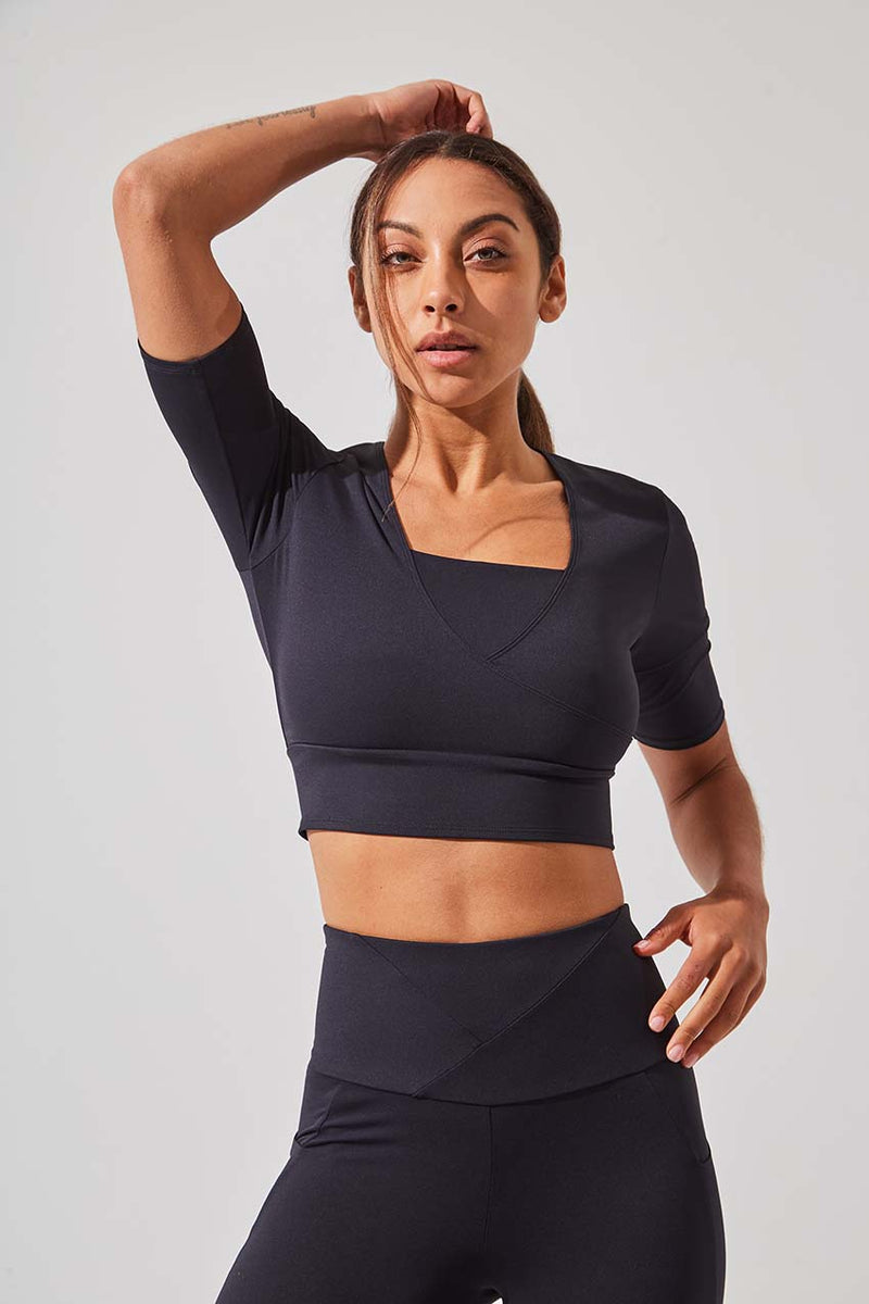 Define Recycled Polyester Half Sleeve Crop Top