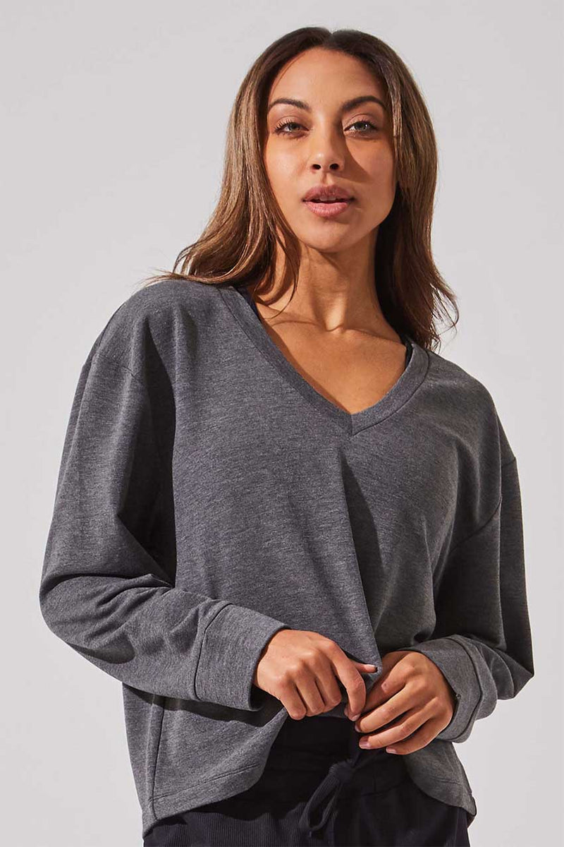 Chance Recycled Polyester V-Neck Sweatshirt
