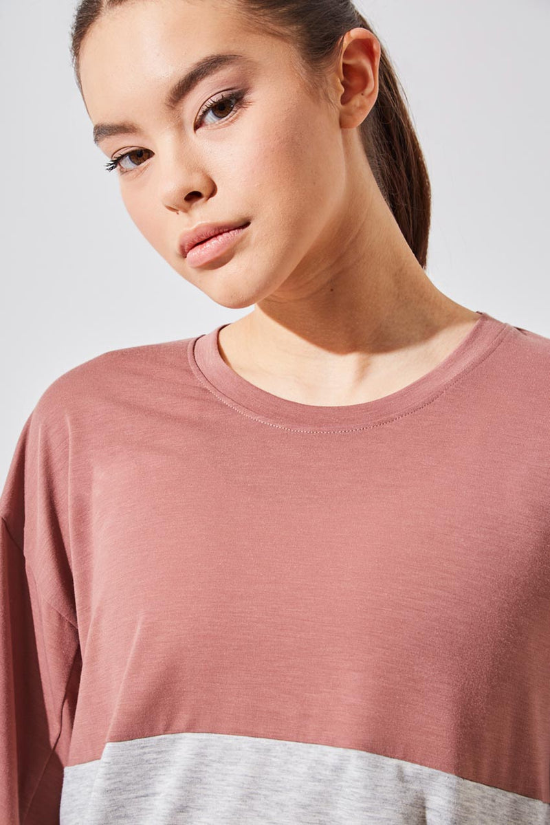 Refresh Recycled Polyester Oversized Cropped Tee