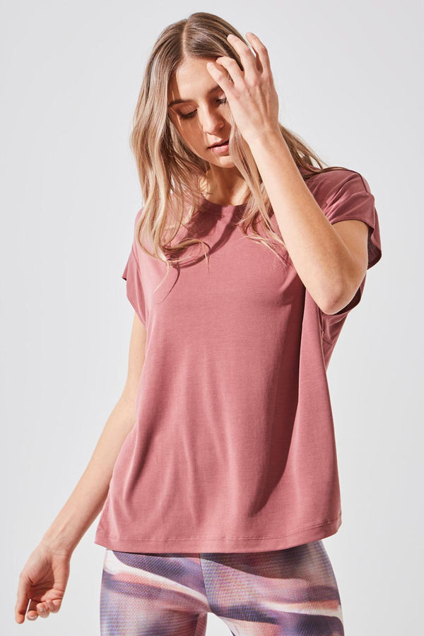 MPG Sport women's Charge Natural Modal Oversized Tee in Dark Orchid