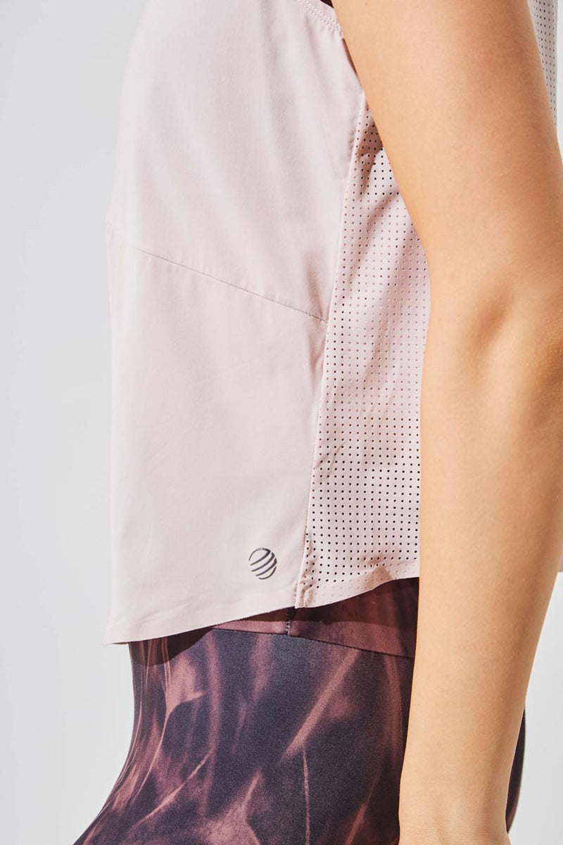 Chakra Perforated Cropped Tank