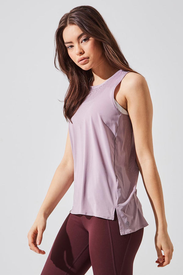MPG Sport women's Hint Perforated Tank in Dusty Purple
