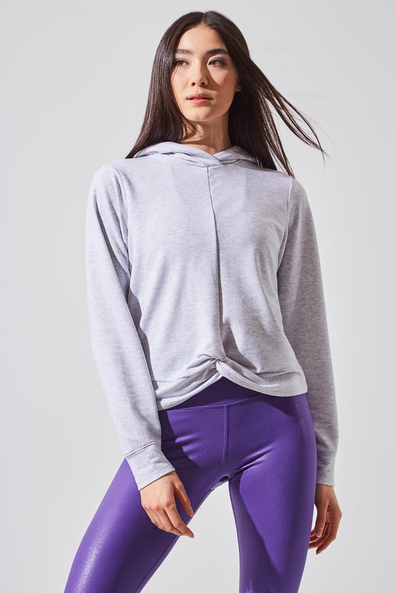 MPG Sport women's Enamor Recycled Polyester Relaxed Hoodie in Htr Marble