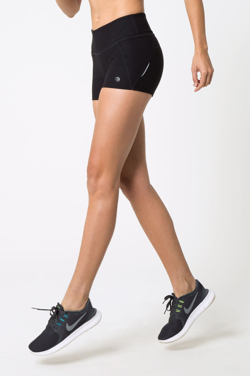 "MPG Sport's clearance warehouse women's Electrolyte Signature 3"" Hot Short in Black"