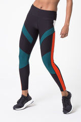 Finale 7/8 Color Block Run Legging