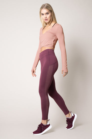 Haven 7/8 High Waisted Laser Cut Legging