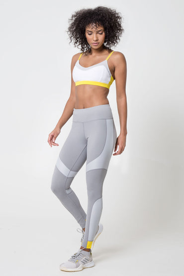 Runaway 7/8 Color Block Metallic Panel Legging