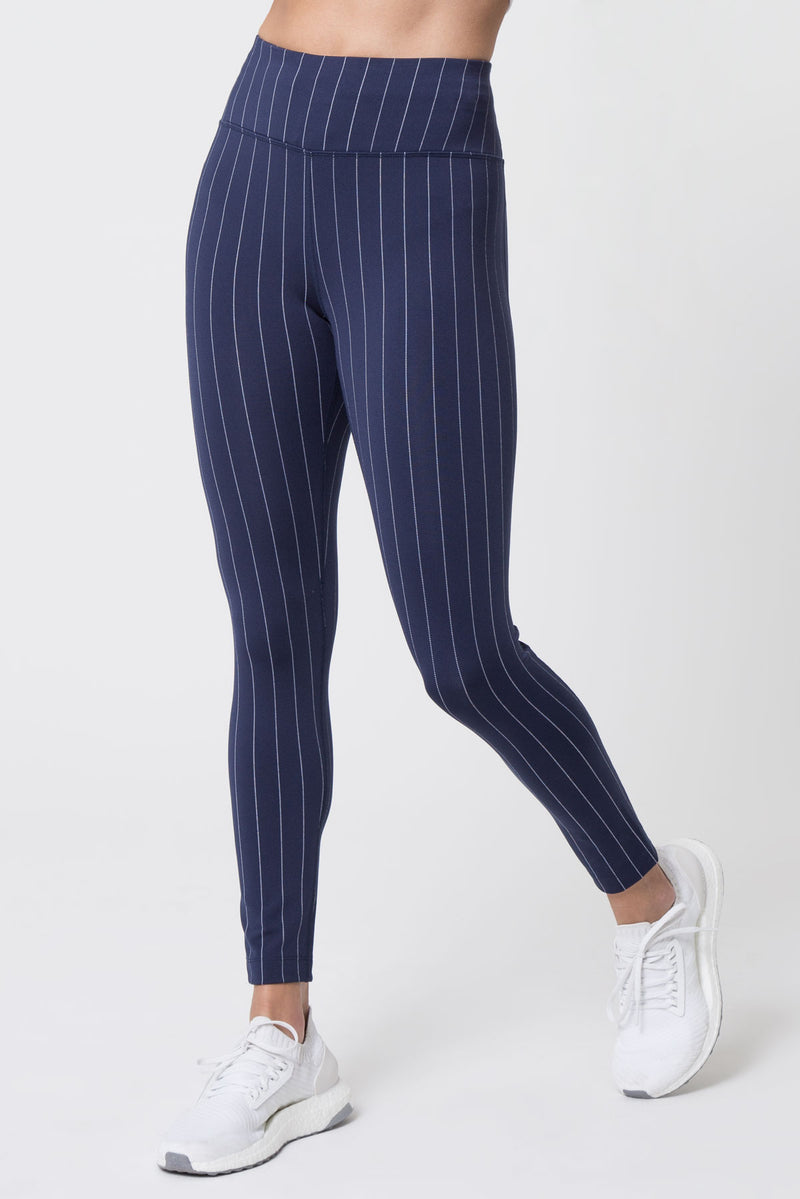Spotlight 7/8 High Waisted Striped Leggings