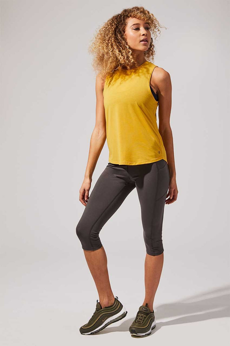 Step Up High Waisted Recycled Polyester Capri