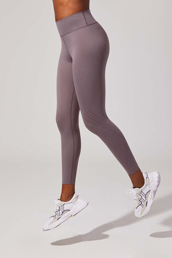 MPG Sport women's Infinity High Waisted Recycled Polyester 7/8 Legging in Grape Shake