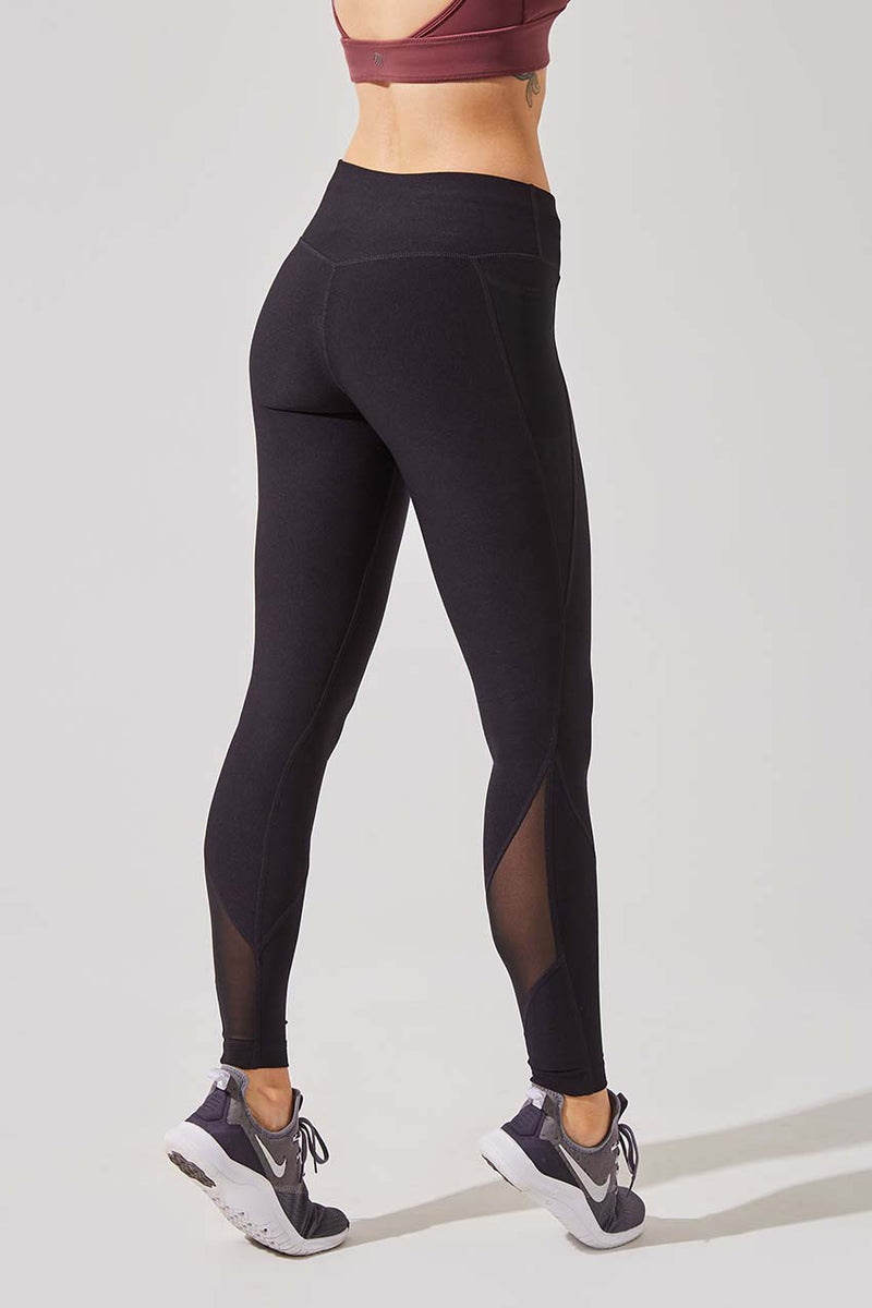 Rebounder Recycled Polyester Side Pocket Legging (Coach)