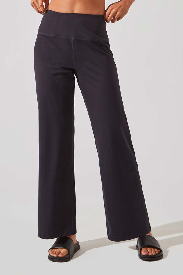 MPG Sport women's Mission Recycled Polyester Wide Leg Pant in Black
