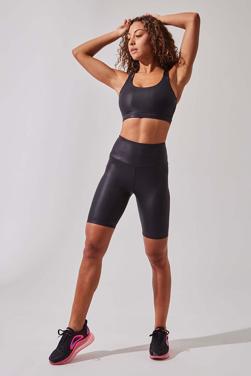 "Push 8"" High Waisted Recycled Polyester Bike Short"