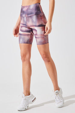 "Climb 8"" High Waisted Recycled Polyester Biker Short"