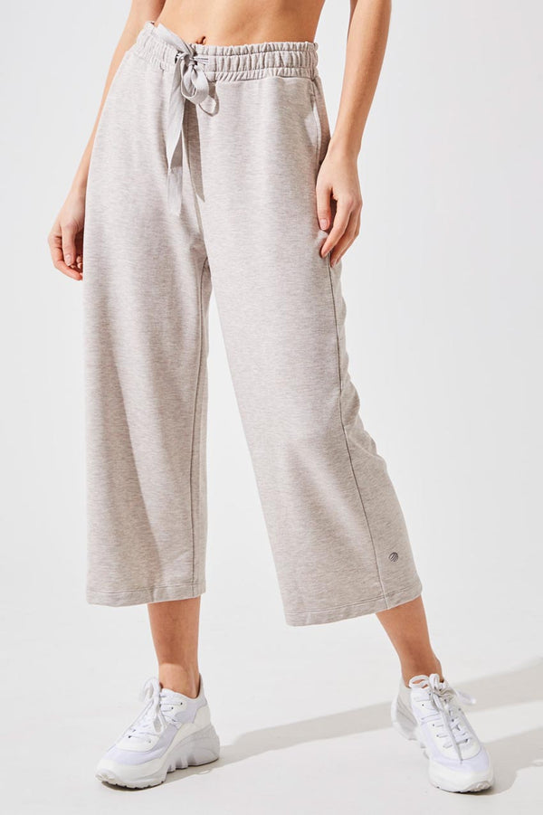 Hypnotic Recycled Polyester Cropped Wide Leg Pant