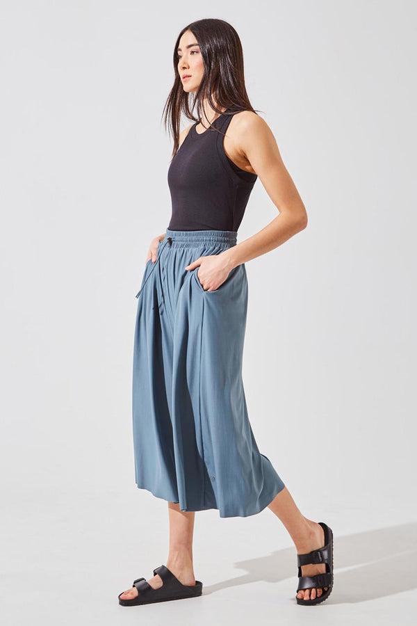 Groove Luxe Tactel® Cropped Wide Leg Pant