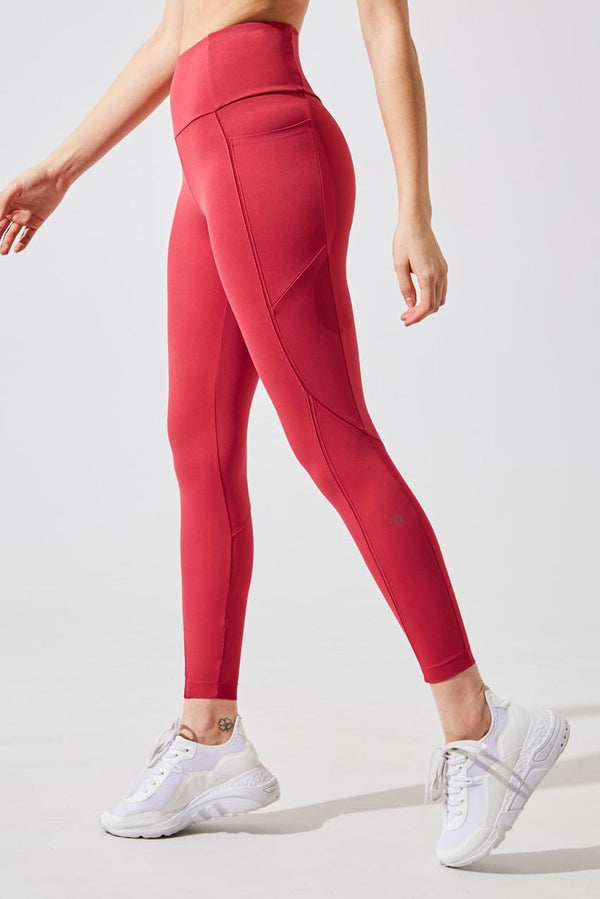 MPG Sport women's Accelerate Ultra-High Waisted Recycled Nylon 7/8 Legging in Soft Bordeaux