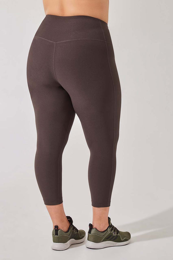 Dashing High Waisted Recycled Polyester Capri - Plus