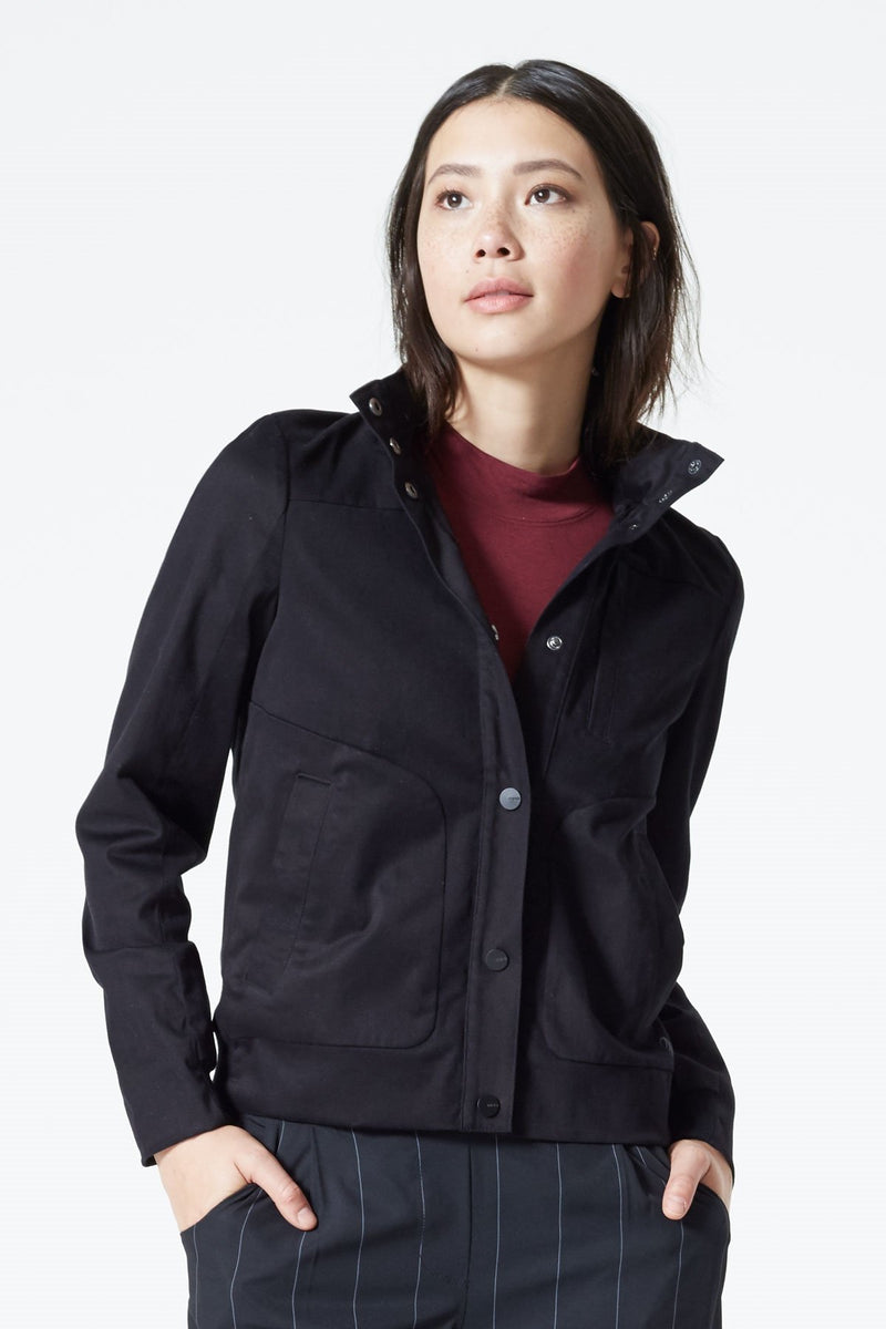 MPG Sport's clearance warehouse women's Bromley Satin-X Jacket in Black