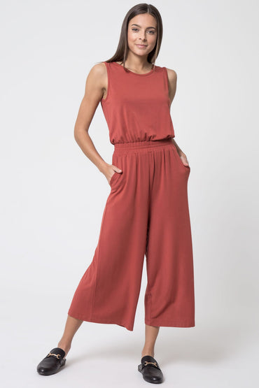 Trendsetter Luxe Cropped Jumpsuit