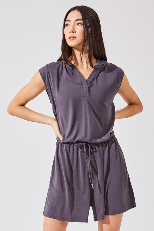 MPG Sport women's Illusion Natural Modal Relaxed Romper in Charcoal