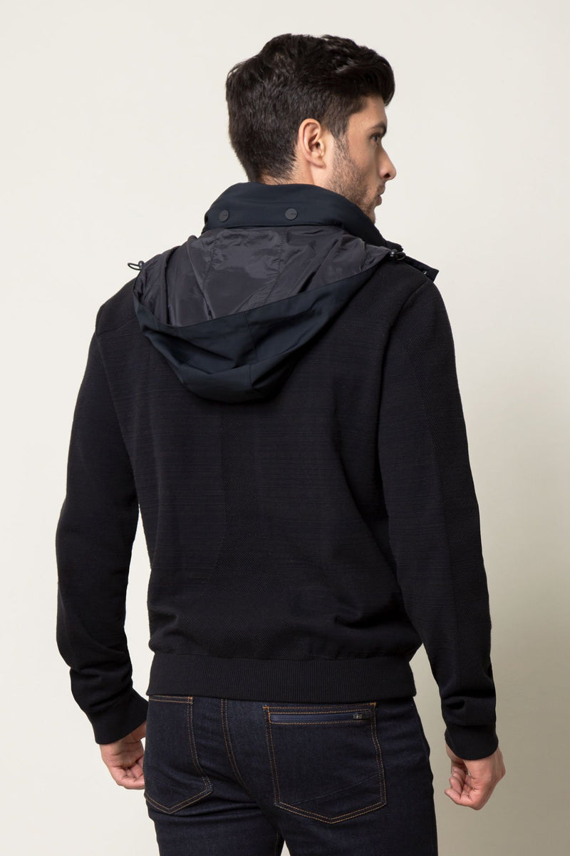 Component Mixed Media Zip Front Jacket