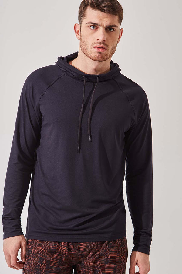 MPG Sport men's Caliber Recycled Polyester Hoodie in Black