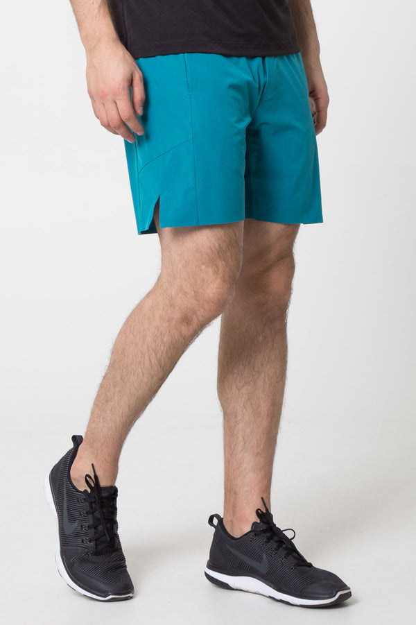 "MPG Sport's clearance warehouse men's Hype 3.0 Essential 7"" Short with Liner in Spruce Green"