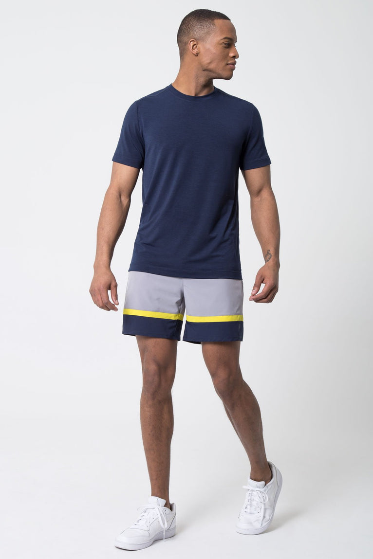 "Focus 6"" Color Block Short with Liner"