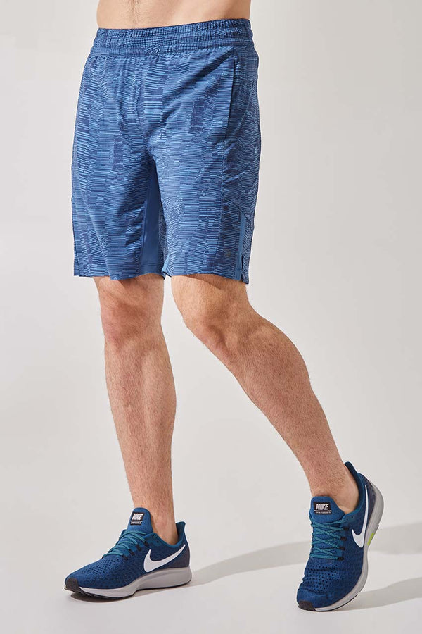 "MPG Sport men's Boundary 9"" Recycled Polyester Short with Liner - Sale in Blue Fossil"