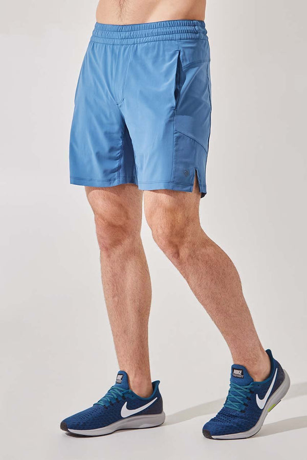 "MPG Sport men's Leeway 7"" Recycled Polyester Short with Liner - Sale in Steel Blue"