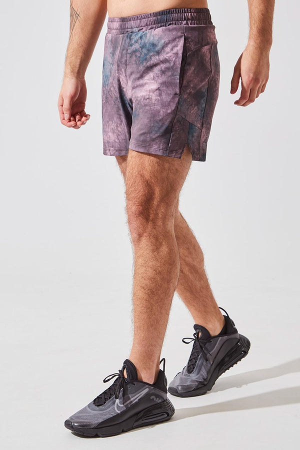 "MPG Sport men's NHL Captain Blake Wheeler collection Undercover 5"" Sustainable Active/Swim Short with Liner in Sunset Smoky Grid"