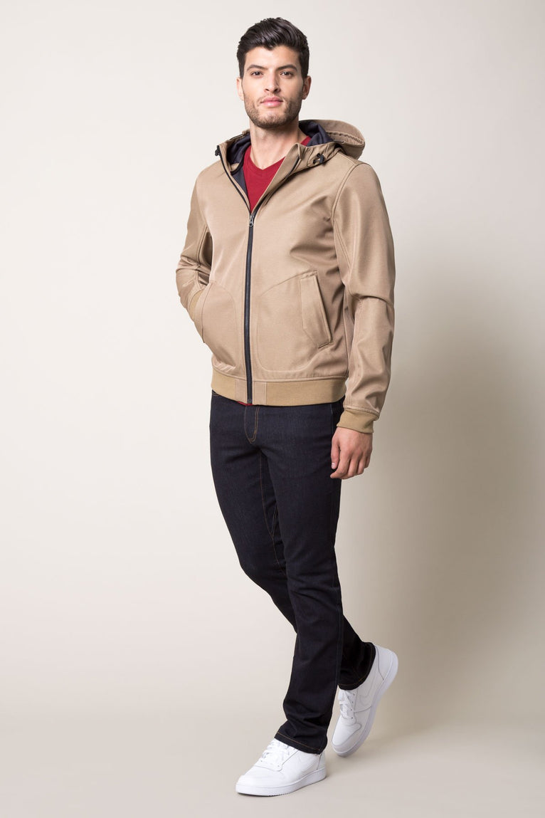Expedition Burnished-Look Hooded Jacket